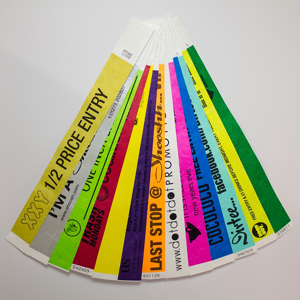 photograph relating to Printable Tyvek Wristbands referred to as Tyvek Wristbands (Black Printing)