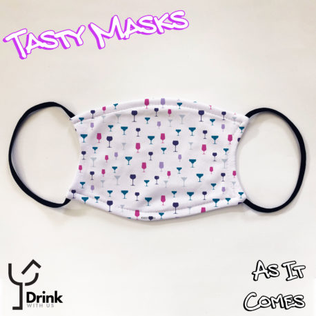 face mask with drinks glasses
