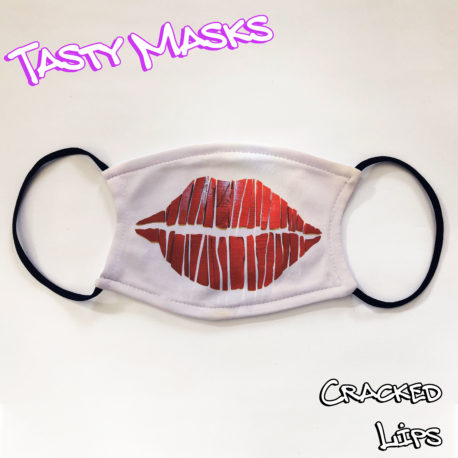 Facemask design of large lips, cracked