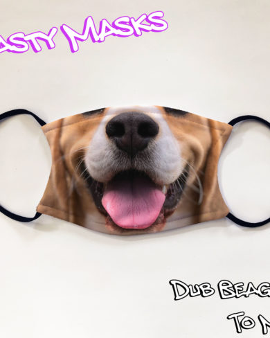 Facemask of beagle dog mouth and nose